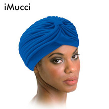 iMucci 10PCS/LOT 13 Colors India Turban Newyork Style Cap Elastic Skullies & Beanies Hat Bandanas Big Satin Bonnet Turban