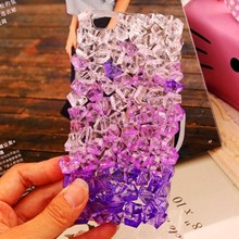 Fashion Summer ice Crystal Clear Stone Case for Samusng S3 S4 S5 S6 S7 Edge S8 Plus Note 3 4 5 Bling Shiny Style Case