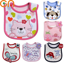 Baby cotton bibs Girl Boy Cartoon waterproof bib Kids Dinner Feeding Children apron Infant Newborn Burp Cloths For 0-3 years CN