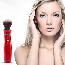 Electric Makeup Brush 360 degree Rotating Head Handy Vibration Brush Face Powder Puff Blending Cosmetic Professiona Make-up Brus(China)