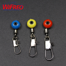 Wifreo 20PCS Space Beans Pole Floating Seat connector ocean boat fishing pins swivel safty pin lure