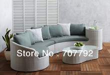 Hot Sale!! 2017 The Most Popular Garden Furniture Rattan Sectional Sofa(China)