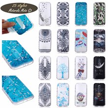 PainTed PaTTeRn SiLiCone SoFt Cover For Motorola Moto G3 Moto G (Gen 3) Moto G (3rd gen) Phone Cases WaVy AnTi SLip DeSiGn CeLL