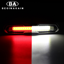 BEGINAGAIN Cycling USB Recharge COB Light Bicycle Front / Rear Light MTB Bike Warning Lamp Outdoor Night Safety LED Taillight