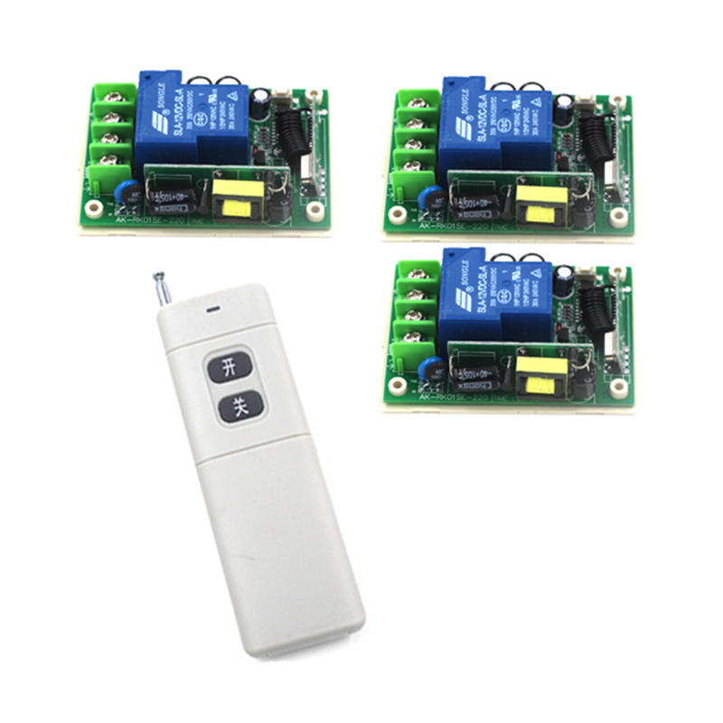 85v~250V 110V 220V 1CH 30A RF Wireless Remote Control Relay Switch Security System Garage Doors Rolling Gate Electric Doors 4137<br>