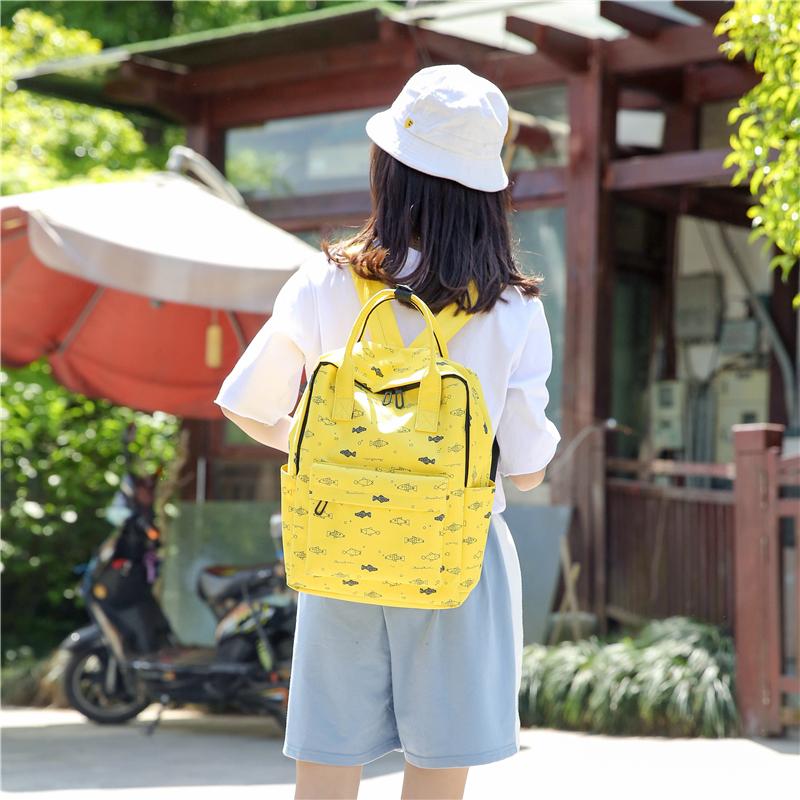 Menghuo Fish Printing Women School Bag Backpack for Teenage Girls Backpacks Female Canvas Children Schoolbag Women Bag s (37)