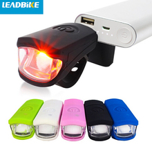 LEADBIKE Bike Front Light USB charging Silicone Material Cycling Flashlight Bicycle accessories