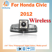Wireless 1/4 Color CCD Rear View Camera / Parking Camera / Wireless Reverse Camera For Honda Civic 2012 Night Vision /Waterproof