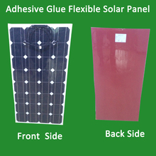 Super convenient 100w semi-flexible solar panel, the back with adhesive glue can be directly pasted(China)