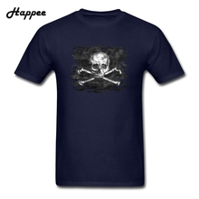 Men's T-shirts Old Skull Crossbones Pirate Flag Tshirt Man Clothes 100% Cotton Short Sleeve Male T Shirts Tops XS-3XL