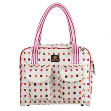Fashion Pet Carrier Pet Designer Dog Carrier Bags Tote Bag Luggage Leather Perfect For Travel Red Stripe Dot Pattern 0062