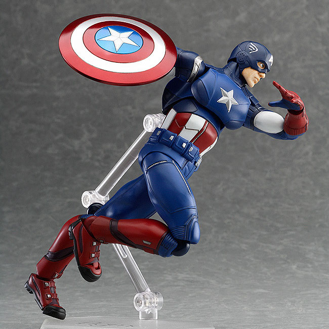 Hero Captain America The Avengers Marvel Anime Figma Doll Figurine PVC Action Figure Collection Model Toy Gifts In Box<br><br>Aliexpress