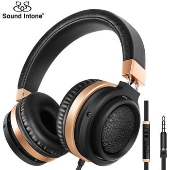 Sound Intone C9 Stéréo Basse Casque audio 3.5mm Audio avec Microphone et Contrôle Du Volume Filaire Casque pour Téléphones Musique