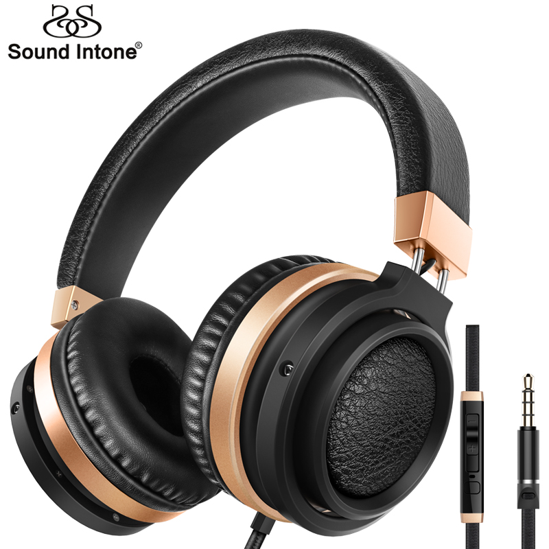 Sound Intone C9 Stereo Bass Over Ear Headphones 3.5mm Audio with Microphone and Volume Control Wired Headphone for Phones Music <br><br>Aliexpress