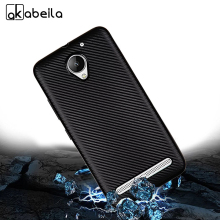 AKABEILA Phone Cover Case For Lenovo Vibe C2 Cellphone Case Carbon Fiber For Lenovo C2 Power 5.0 inch TPU Shell Cover Bag(China)