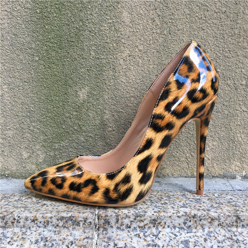 2017 Woman High Heels Pumps Leopard Color High Heels 12CM Women Shoes High Heels Wedding Shoes Pumps Sexy Thin Heels  Shoes<br>
