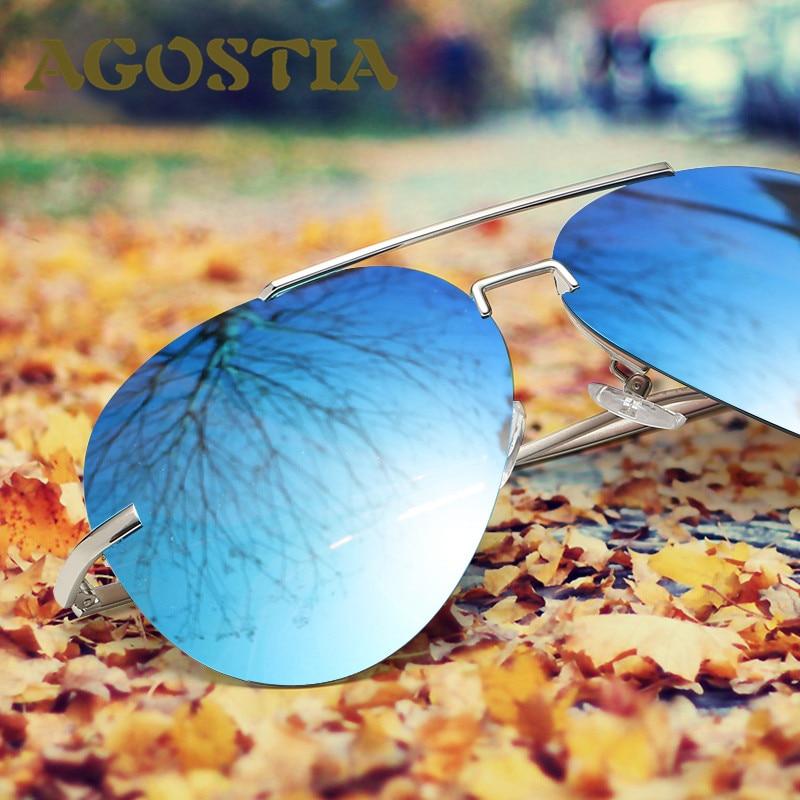 Rimless Polarized Sunglasses Men Driver Mirror Sun glasses Women Stainless Steel Male Fishing Outdoor Sports Eyewear 2530<br><br>Aliexpress