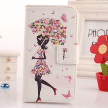 LINGWUZHE Printed Design PU Leather Cell Phone Accessories Holster Flip Wallet Case Cover For Doogee HomTom HT7 pro 5.5(China)