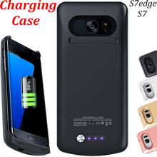 S7 Case Charge Accessory Black Back Battery Cover For Samsung Galaxy S7 Edge Case S 7 Charger S7edge White Rose Gold Wireless On