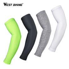 WEST BIKING Cycling Arm Warmers Breathable UV Protection Sport Riding Arm Sleeve Oversleeve MTB Bike Bicycle Cycling Arm Warmers