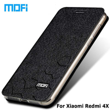 "Buy Xiaomi redmi 4x case Original Mofi Brand xiaomi redmi 4x pro case Flip leather cover + TPU soft case xiaomi 4x cases 5.0"" for $8.68 in AliExpress store"