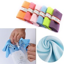 3Pcs Water Absorbable Glass Kitchen Cleaning Cloth Wipes Table Window 30 * 40CM New XQ Drop shipping