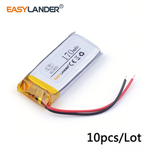 10pcs/Lot 401833 3.7v 170mAh  lithium Li ion polymer rechargeable battery  For MP3 mp4 DVR pen Bluetooth DIY audio Toys 041832
