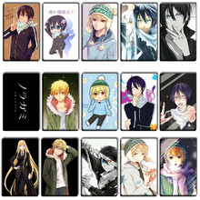 20 pcs/lot Funny Noragami Anime Stickers Toys Japan Anime Cool DIY DIY Bank Bus ID Card Stickers Kids Birthday Party Gifts Toys