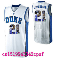 2017 Hot Sale Devils Garyson Jefferson #21 Duke Blue Basketball Jerseys High Quality