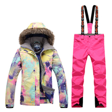 GsouSnow winter Ladies Ski Suit, outdoor windproof, waterproof, warm climbing suit, emergency clothing, single and double board