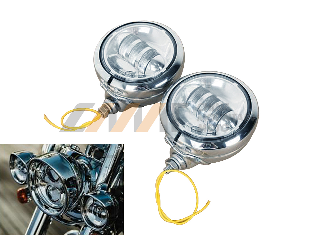 4-1/2 LED Auxiliary Fog Passing Lights With Housing Bucket case  for Harley Bad Boy<br><br>Aliexpress