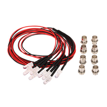 8 LED Light Kit 2 White 2 Red 4 Yellow for 1/10 1/8 Traxxas Redcat RC4WD Tamiya Axial SCX10 D90 HPI RC Car Parts(China)