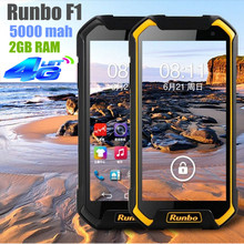 Runbo F1 Octa Core Rugged Waterproof Outdoor Phone IP67 Phone 4G FDD-LTE 5000MAH MTK6752 2G RAM Android Dual Simcard 13.0MP Q5