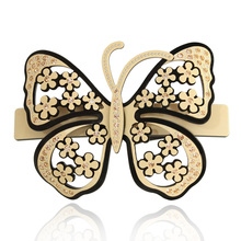 Luxury Alexander Hair Jewelry Barrettes Ornaments Butterfly Rhinestone Hair Accessories for Women Hair Clip Pin Free Shipping(China)