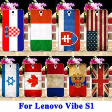 AKABEILA Mobile Phone Case For Lenovo Vibe S1 S1C50 S1A40 5.0 Cover UK Mexico Russia Brazil National Flag Shell Hood Rubber Bag(China)