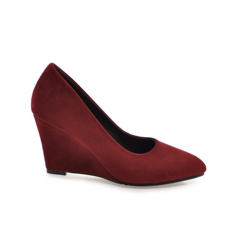 Salcxoi spring and autumn Shoes Woman 2018 Womens Wedges Ladies Shoe Slip-on pump high heel red Shoes Italy free shipping &292