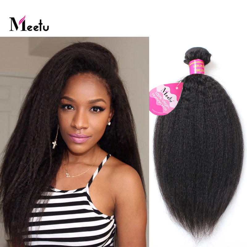 8A Peruvian Coarse Yaki Human Hair Extensions Virgin Peruvian Hair Natural Color 4Pcs Lot Top Sale Peruvian Virgin Hair Weaving<br><br>Aliexpress