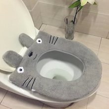 Totoro Cartoon Plush Super soft toilet potty toilet seat cover Warm Close Stool  Rodeo Cushion Mat