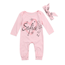 Lovely Infant Baby Girl Swan Romper Newborn Long sleeve Jumpsuit Autumn Spring Clothes Outfits 0-24M