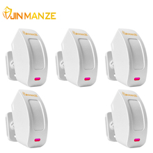 5PCS/lot 433MHz Wireless USB Rechargeable Window Curtain PIR Motion Sensor for Wireless Home Alarm System Free Shipping