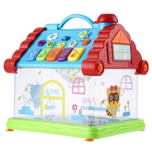 Funny Musical House Piano Toy Electric Starlights Kids Early Intelligent Toys Learning Machine Brithday Christmas Xmas Gifts
