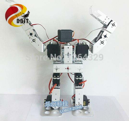 Official DOIT 11DOF Humanoid Robot Feet/Walking Robot / a full Set Servo Bracket for Robot +11 PCS High Torque Servos / Robot<br><br>Aliexpress