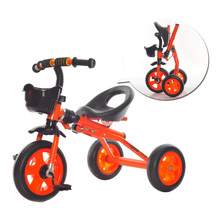 Children tricycle bike 1-2-3-4-5 years old folding simple with a bucket child car large 6 male girl bike(China)