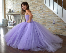 2017 Children dress tutu flower girl dress 8Y girls tail dress and Piano costume wedding  long dress mopping the floor