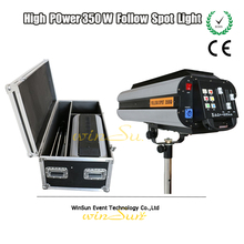 Electronic 350w 17R Beam Spot Follow Chasing Light/Tracker Light For Wedding Performence Follow Spot Light With Fly Case