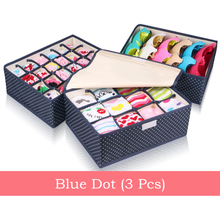 QUBABOBO Storage Box Set With Cap Bra Socks Underwear Storage Box Underwear Organizer 3Pcs Set Sock Container Case 32*26*13cm