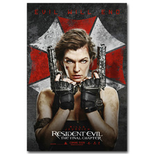 NICOLESHENTING Resident Evil 6 Movie Art Silk Poster Huge Print 13x20 24x36 inch Game Wall Picture Living Room Decoration