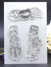 CLEAR STAMPS girl student fashion DIY Scrapbook Card album paper craft silicon rubber roller transparent stamp bird 16x11cm(China)