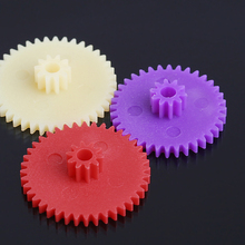 1 Set Hot DIY Colorful 18 Kinds Plastic Gears Set Small Gear Bag 0.4 Modulus Gear