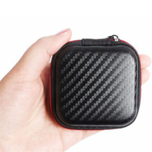 Hot Selling! Best Price Portable Mini Square Hard Storage Case Bag for Earphone Headphone SD TF Cards Optional Feb20